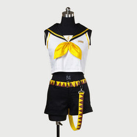 VOCALOID2 Kagamine Rin Cosplay Costume