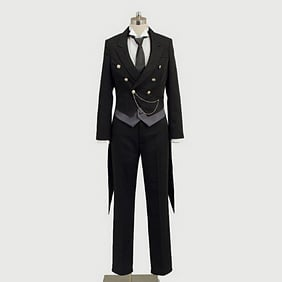 Black Butler Kuroshitsuji Sebastian Cosplay Costume Outfit Cosplay Costume