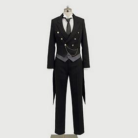 Black Butler Kuroshitsuji Sebastian Cosplay Costume Outfit Cosplay Costume
