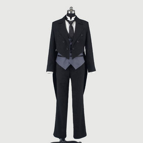 Black Butler Kuroshitsuji Sebastian Swallow-Tailed Coat(Extravagant) Cosplay Costume