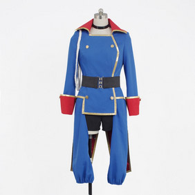 Macross Frontier Shery Sagittarius Military Uniform Blue Cosplay Costume