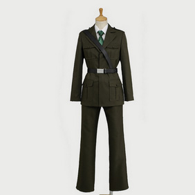 Hetalia  England Military Uniform (Revision) Cosplay Costume