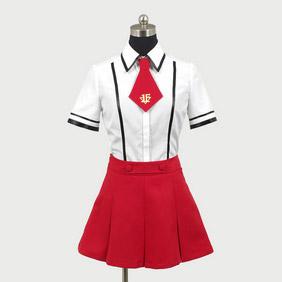 Baka to Test to Shokanju Fumizuki Academy Girl Cosplay Cosplay Costume