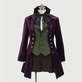 Black Butler Kuroshitsuji 2 Alois trancy  NEW VERSION Cosplay Costume