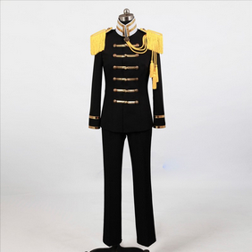 Hetalia Japan Black Military Uniform 3 Cosplay Costume