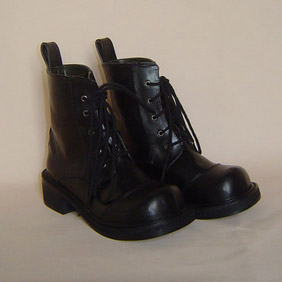 Handsome Black 1.2'' Heel Punk Lolita Boots