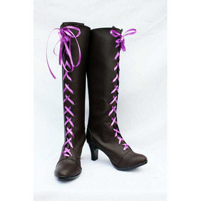 Black Butler Kuroshitsuji Alois trancy PU Leather Cosplay Boots