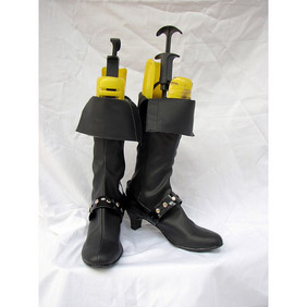Final Fantasy X-2 Paine PU Leather Cosplay Boots