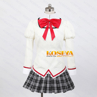 Puella Magi Madoka Magica Uniform White feMale Cosplay Costume