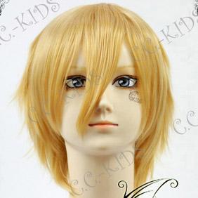 Blonde  Axis Powers Hetalia England Short Nylon Cosplay Wig