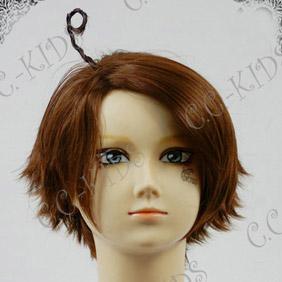 Brown Axis Powers Hetalia Korea Short Nylon Cosplay Wig