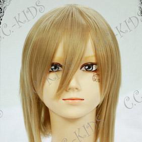 Blonde Axis Powers Hetalia Liechtenstein Mid-Long Straight Cosplay Wig