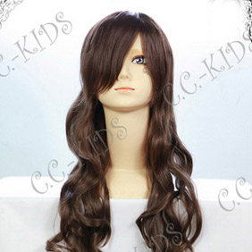 Dark Brown 80cm Axis Powers  Axis Powers Hetalia Taiwan Long Nylon Cosplay Wig
