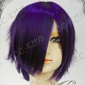 Purple  Hakuouki Saito Hajime (western style cloth) Short Nylon Cosplay Wig