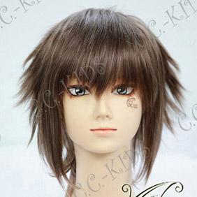 Brown  Hakuouki Okita Souji Short Nylon Cosplay Wig