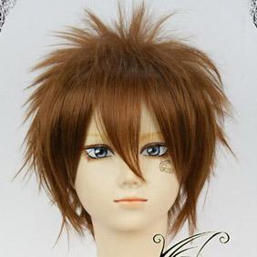 Brown Hakuouki Nagakura Shinbatchi Short Nylon Cosplay Wig