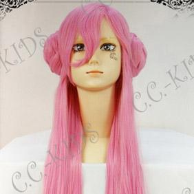 Pink  Code Geass Euphemia Li Britannia Long Nylon cosplay Wavy wig