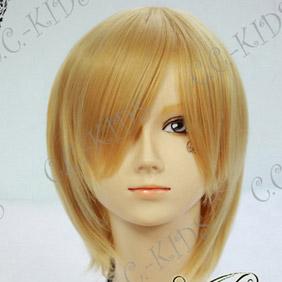 Blonde  DURARARA!! Kida Masaomi Short Nylon Cosplay Wig