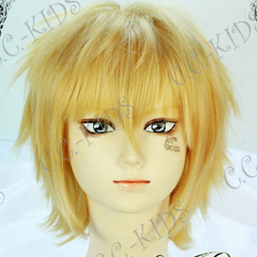 Blonde DURARARA!! Heiwazima Shizuo Short Nylon Cosplay Wig