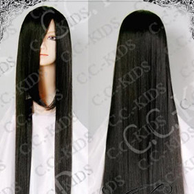 Black DOLLS Saeki Yoshino Long Nylon Straight Cosplay Wig