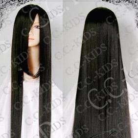 Black DOLLS Saeki Yoshino Long Nylon Straight Cosplay Wig