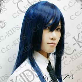 Blue DOLLS Seiju Shikibu Long Nylon Straight Cosplay Wig