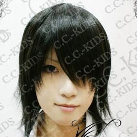 Black  DOLLS Kagami  Motochika Short Nylon Cosplay Wig