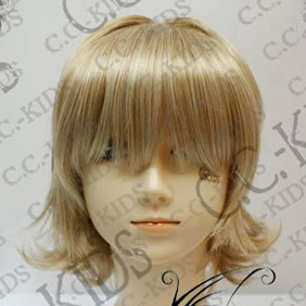 Blonde  DOLLS Kubou Ayane Short Nylon Cosplay Wig