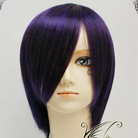 Purple  D.Gray-man Lenalee Lee Short Nylon Cosplay Wig