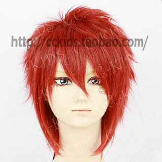 Red  D.Gray-man Lavi Short Nylon Cosplay Wig