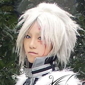 White D.Gray-man Alen Walker Short Nylon Cosplay Wig