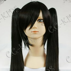 Black  D.Gray-man Lenalee Lee Long Nylon Straight Cosplay Wig