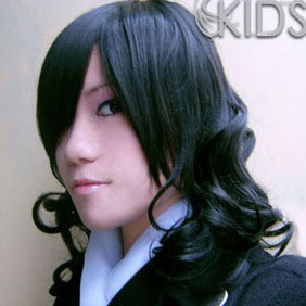 Black D.Gray-man Miranda Lot Mid-Long Nylon Curly Cosplay Wig