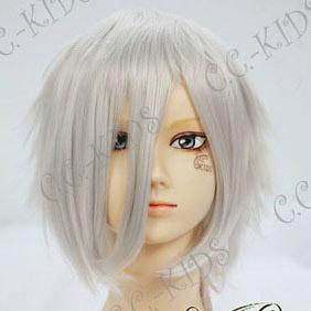 White D.Gray-man  Alen Walker Short Nylon Cosplay Wig