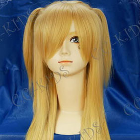 Blonde  DEATH NOTE  Amane Misa Long Nylon Straight Cosplay Wig