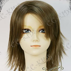 Brown  Final Fantasy X-2 Yuna Short Nylon Cosplay Wig