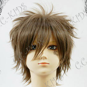 Brown 30cm Final Fantasy XIII  Noctis Lucis Caelum Short Nylon Cosplay Wig