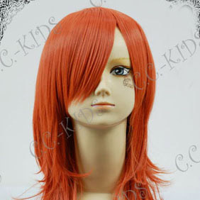 Orange  Final Fantasy XIII  Oerba Dia Vanille Long Nylon Cosplay Wig