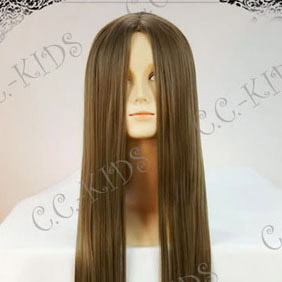 Brown Final Fantasy X-2 Lenne Long Nylon Straight Cosplay Wig