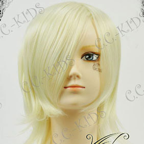 Blonde Final Fantasy XIII  Snow Villiers Mid-Long Nylon Cosplay Wig