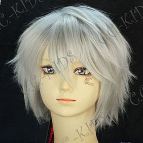 White Final Fantasy XIII  Hope Estheim Short Nylon Cosplay Wig