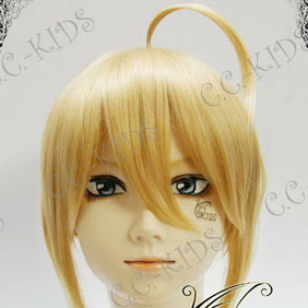 Blonde Fate/stay night Saber lily Nylon Straight  Cosplay Wig
