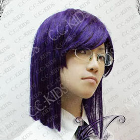 Purple Gundam00 Tieria Erde Mid-Long Nylon Straight Cosplay Wig