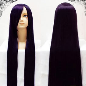 Purple Gundam00 Tieria Erde Long Nylon Straight Cosplay Wig