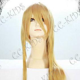 Blonde Full Metal Alchemist Winry Rockbell Long Nylon Straight Cosplay Wig