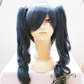 Blue 60cm Black Butler  Ciel Phantomhive  female Long Nylon Wavy Cosplay Wig