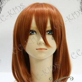 Orange Umineko no Naku Koro ni  Maria Mid-Long Nylon Cosplay Wig
