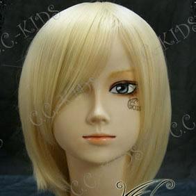 Blonde  Umineko no Naku Koro ni  Ramudaderuta Short Nylon Cosplay Wig