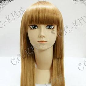 Brown  Umineko no Naku Koro ni  Rosa Ushiromiya Long Nylon Cosplay Wig