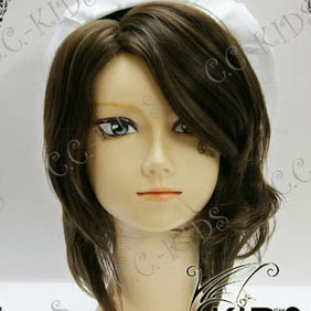 Brown Umineko no Naku Koro ni  Shannon Mid-Long Nylon Wavy Cosplay Wig